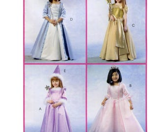 Children's and Girls' Princess Costume - Dress in 4 Views - McCall's Sewing Pattern 4888