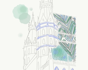 Stephansdom Illustration