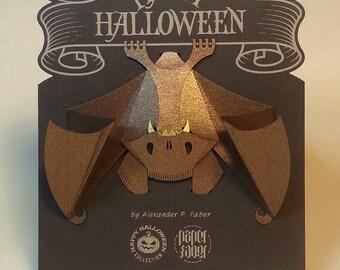 Pop up Card 3d card, The Mad Bat, Happy Halloween Decoration, Kirigami, Origami Paper Halloween gift souvenir Halloween Invitation Decor