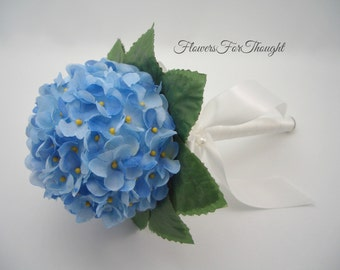 Forget me not Bouquet, Blue Wedding Posy, Bridesmaid or Flowergirl Decoration