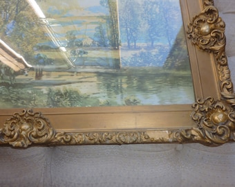14 by 28 Antique Very Ornate Gesso Rectangular Frame