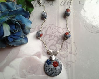 Locket necklace and polymer beads