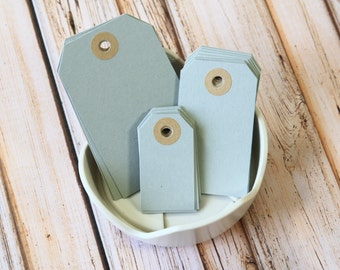 Silver GREY Reinforced Luggage Tags