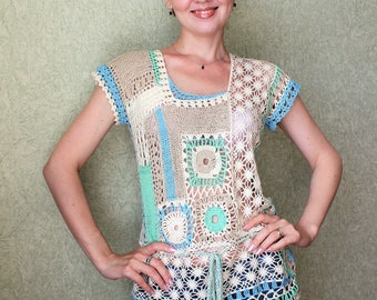 "Crochet tunic ""Lace song"""