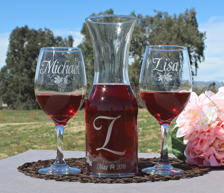 Personalized Wedding Ceremony Ideas: Unity Set For Your Wedding Ceremony 2Wine Glasses & 1