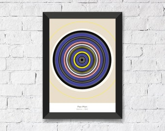 Pac-Man • Namco • 1980 - Abstract Art Print A3/A4