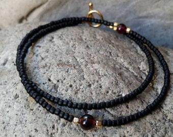 Sweet lil Garnet wrap bracelet