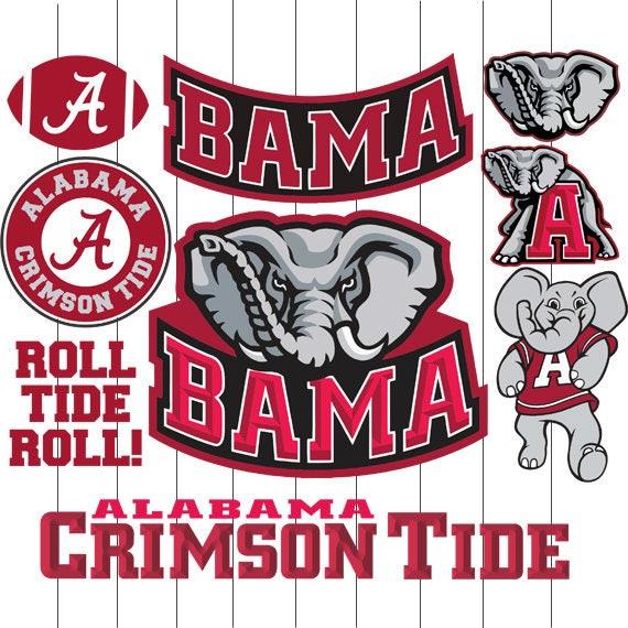 Alabama Crimson Tide Logo Svg Vinyl Cutting Decal For Mugs T
