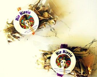 Ritual Incense Bundle for Full Moon + New Moon + Meditation + Yoga | White Sage + Lavender Incense | White Sage + Cinnamon Incense