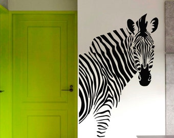 Zebra Equine Horse Animals Nature  Wall Vinyl Decal Sticker Home Decor Art Mural Z459
