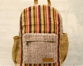Hemp Backpack, Rucksack, Travelpack, Hipster Ecobag