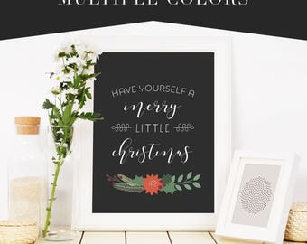 Have Yourself A Merry Little Christmas Fine Art Wall Print Sign