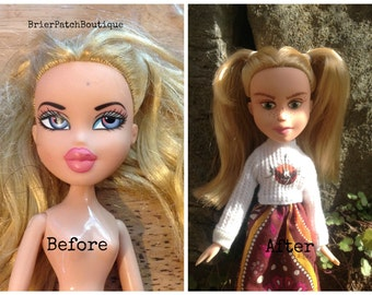 Ellie - (Upcycled doll, reborn and repainted bratz doll, OOAK doll)