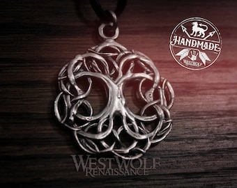 Tree of Life Pendant - Yggdrasil the World Tree -- Viking/Celtic/Norse/Nature/Pagan/Silver/Magic