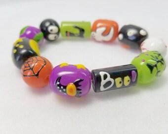 Spiderweb Boo Stretch Bracelet