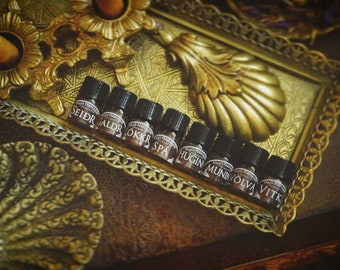 Norse Magic - Natural perfume SAMPLE set • Ritual Perfume • Botanical Perfume • Perfume sample • Witchcraft set • Natural Perfume set •
