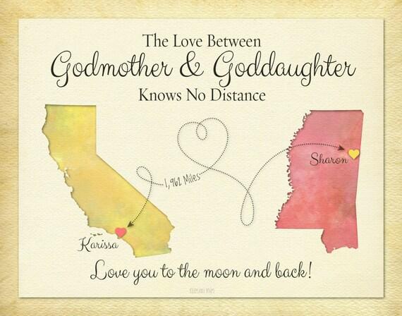 Godmother Wedding Gift: Godmother Gift Goddaughter Gift Long Distance Gift