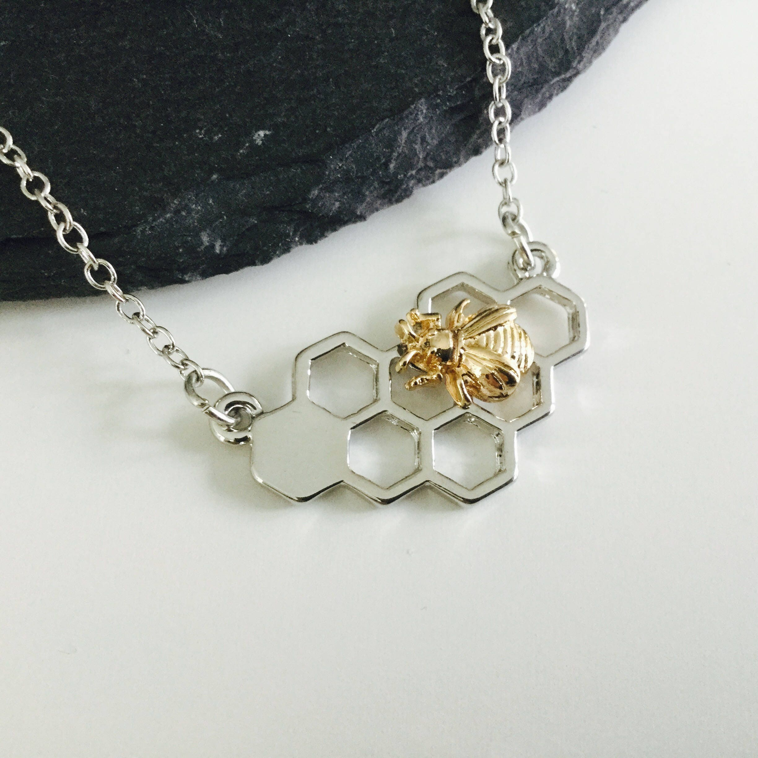 bumblebee overlay bee honey silver diamond orders free pendant accent on necklace jewelry watches over overstock product shipping finesque