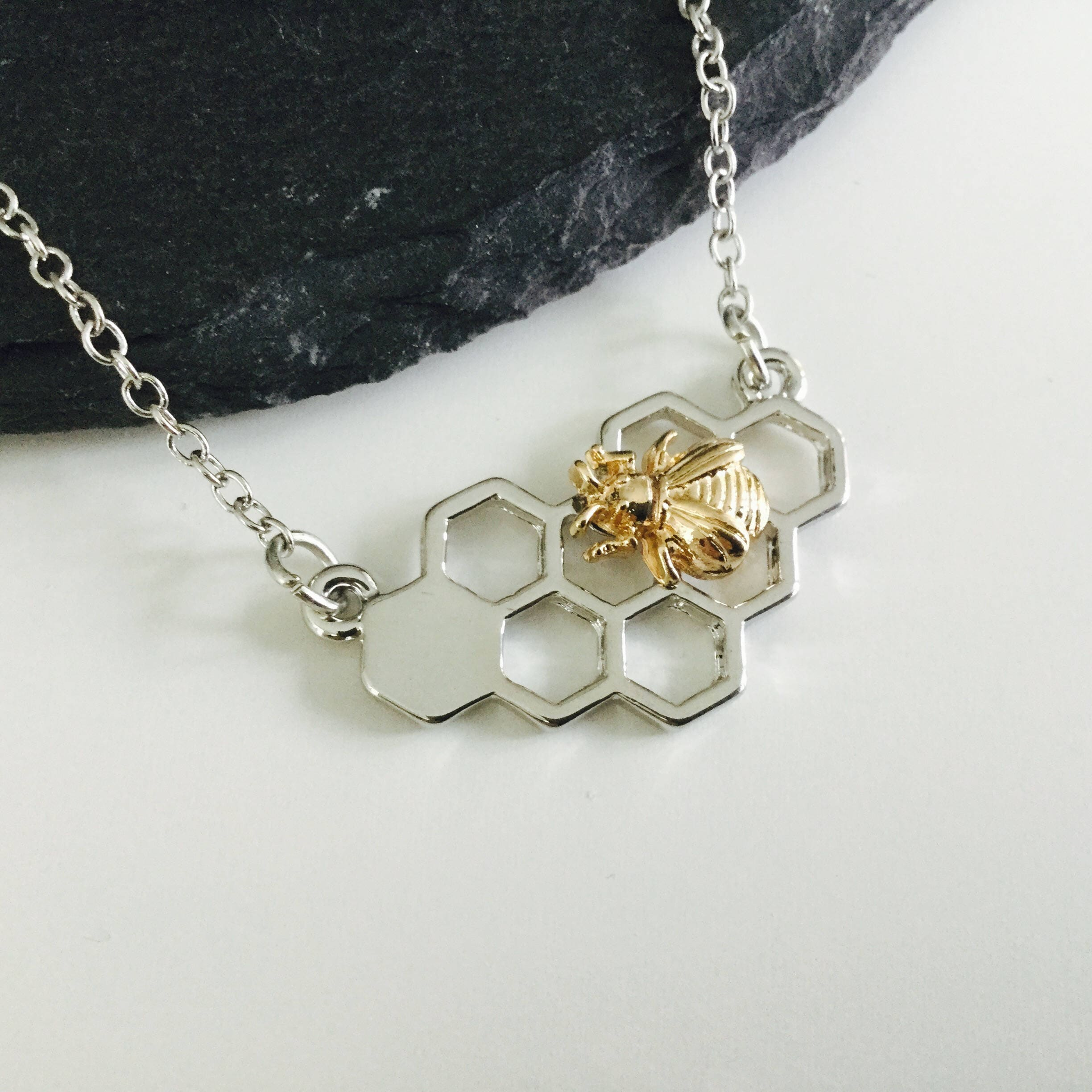 shop honeyvialnecklacehanging necklace home pendant vial products jewelry bee honey necklaces