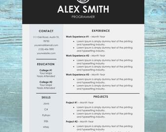 Chic Resume Template   Modern Resume Template   CV Template   Cover Letter Templates   Word Resume Template   Job Resume Design Download