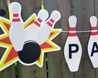 Bowling Banner, Bowling Party Banner, Bowling Birthday Banner, Bowling Party, Bowling Decorations, Bowling Strike Banner