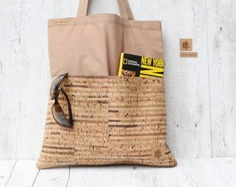 Shopper bag sand & stripes