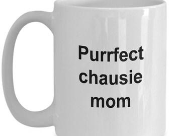 Chausie Mug - 15 oz mug - PURRfect Chausie Mom - Chausie coffee mug