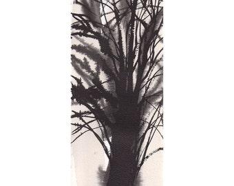 Grid Series No.1 bare trees 8 of 9, original watercolor