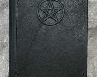Large leather bound journal handmade book of spells grimoire Book of Shadows