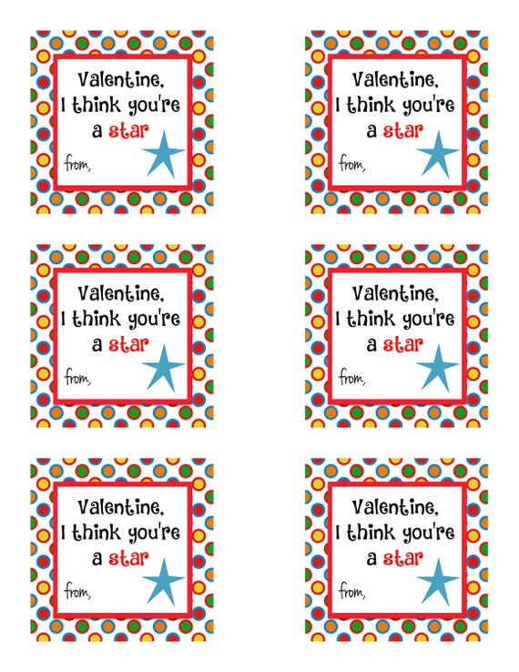 It's just an image of Zany Starburst Valentine Printable