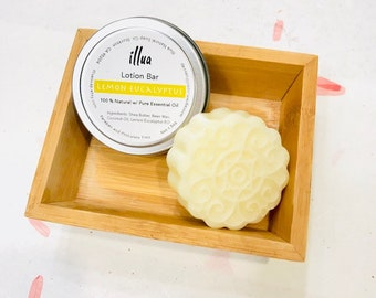 Lemon Eucalyptus Lotion Bar, All Natural Lotion, w/ Essential Oil, Hand Lotion, Body Lotion, Solid Lotion Bar, Moisturizing, Dry Skin