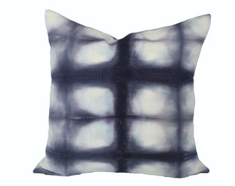 Shibori Grid designer pillow covers - Made to order - Rebecca Atwood