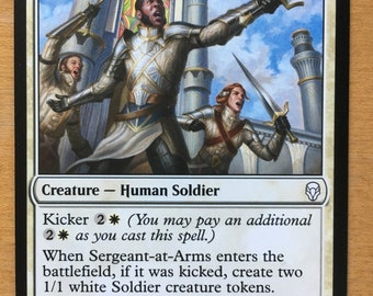 Sergeant-at-Arms, Limited edition MTG Artist proof, By Scott Murphy