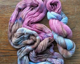 Bliss Hand Dyed Sock Yarn Single Ply 100g Skein Superfine Merino Wool Speckled