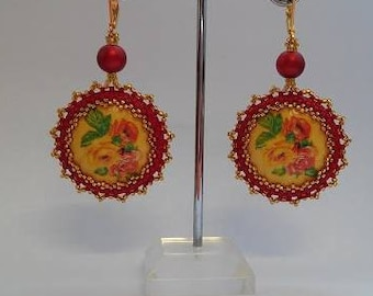 Earings ''Spring'' double face