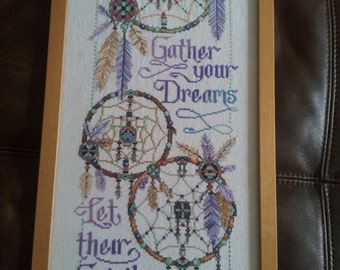 "A ""Gather your Dreams"" Cross Stitch Sampler"