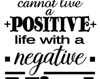 Positive Mind Quote SVG Cutting File