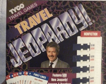 Vintage Game Jeopardy Travel Game 1993 Vintage Board game Tyco New Never Played