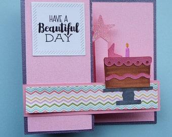 Birthday card Z-fold style