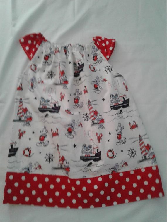 Disney Cruise Line Dress, Dream line Boat, Disney Vacation, Disney Nautical Dress, Disney Summer Dress, Disney Girls, Free Shipping