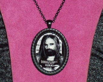 Otis B Driftwood / House of 1000 Corpses / The Devil's Rejects Inspired Black Cameo Necklace / Horror Necklace / Otis Driftwood / Rob Zombie