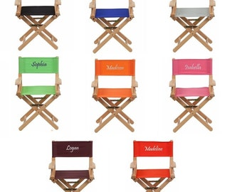Kids Personalized Directors Chair Canvas Foldable - Embroidered Chair