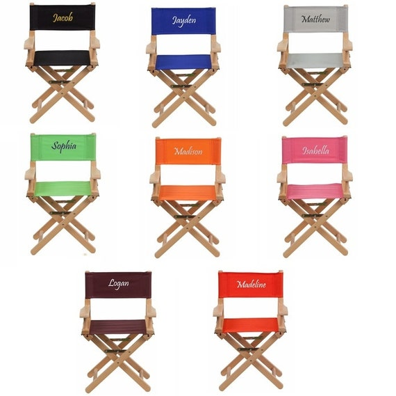 Kids Personalized Directors Chair Canvas Foldable