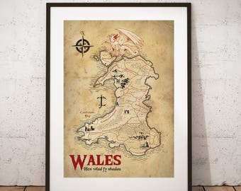 Map of Wales - Middle Earth