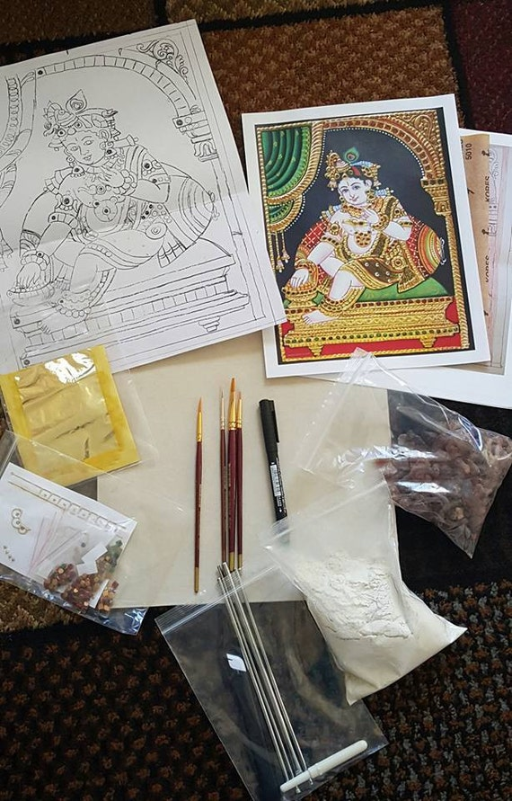 Do it yourself tanjore painting kits from shriartsandgifts on etsy do it yourself tanjore painting kits from shriartsandgifts on etsy studio solutioingenieria Images