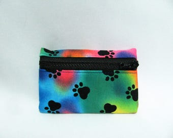 Small pouch- Paw print cotton