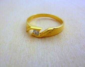birthstone gemstone ring  Thin GOLD Ring -gold filled dainty ring, minimalist ring birthstone ring