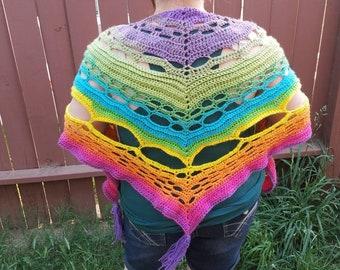 Rainbow shawl/scarf