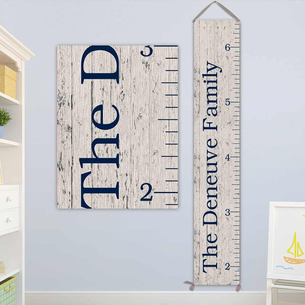 Family growth chart personalized canvas growth chart growth chart