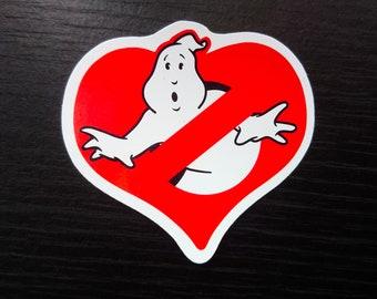 Ghostbusters Haunted Valentine's Sticker